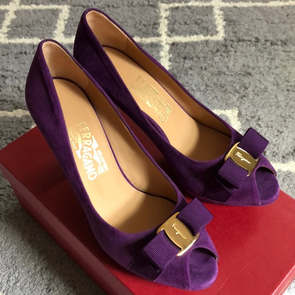 Salvatore Ferragamo Shoes - 🌸NEW Salvatore Ferragamo suede open toe heel 8
